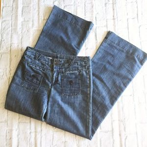 Anthro Pilcro and the Letterpress wide leg jeans